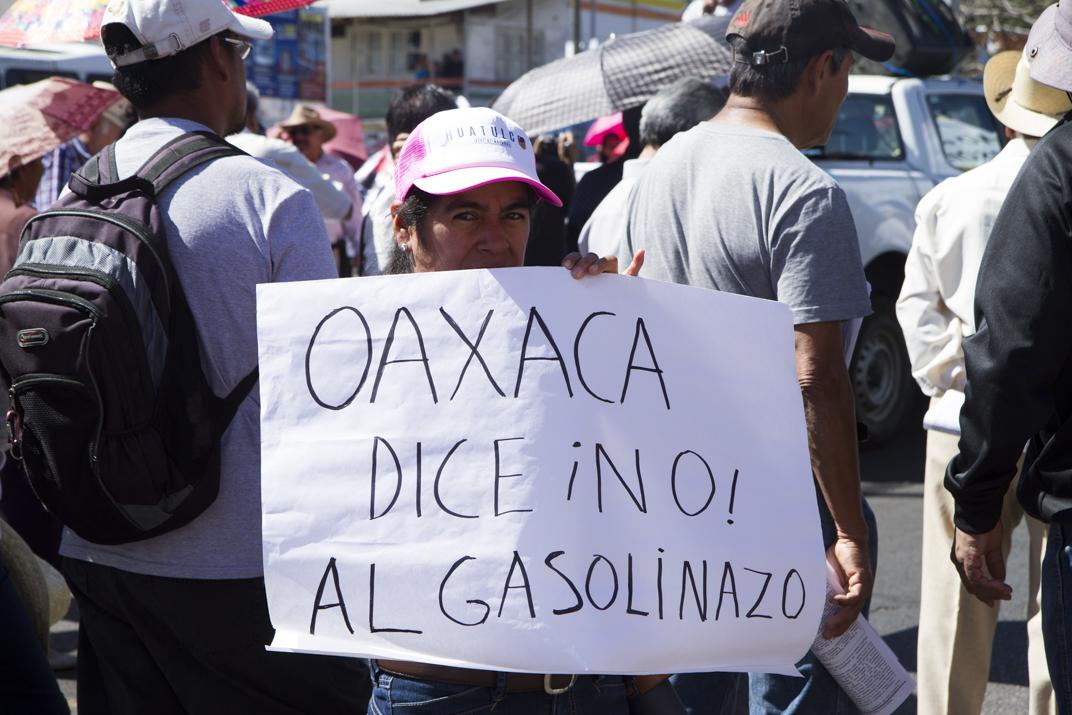 Miles de personas dicen ¡no! al Gasolinazo en Oaxaca