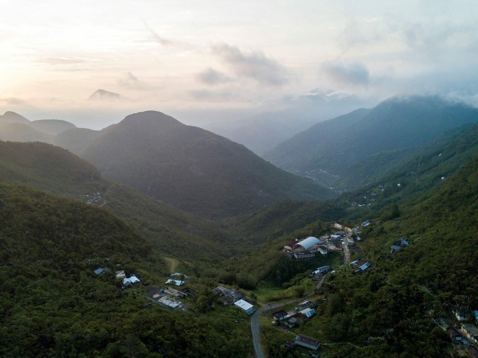 panorámica de la Sierra Mazateca.