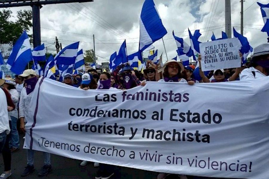Feministas denuncian represión en contexto de crisis política en Nicaragua